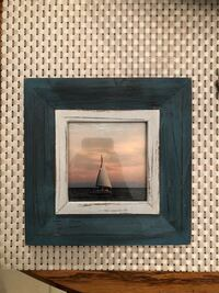 Blue and white picture frame 7x7 Jupiter, 33477