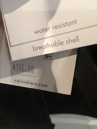Two water resistant breathable shell calvin klein apparel I phone