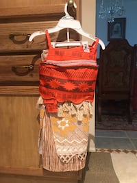 orange and white floral spaghetti strap dress Kissimmee, 34758