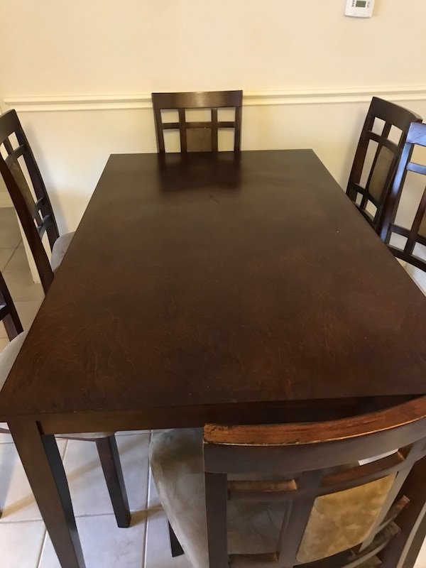used 3x5 dining table with 6 chairs for sale in houston