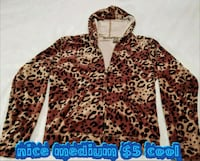 brown and black leopard print zip-up hoodie Las Vegas, 89169