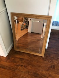 Wood framed mirror 26in by 32in Lafayette