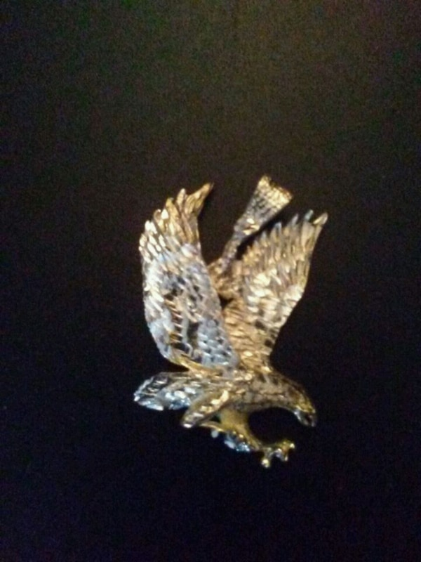 White gold eagle brooch