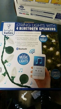 Bluetooth string lights with 4 Bluetooth speakers Riverside, 92509