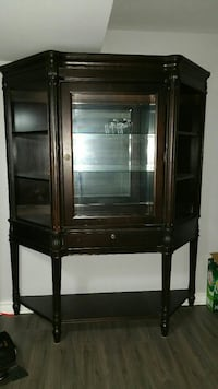 Antique solid wood cabinet/hutch.