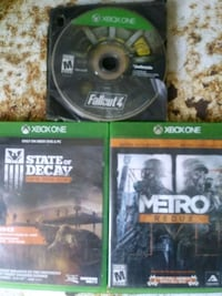 Xbox One games Fallout 4, State of Decay,and Metro Cleveland, 37312