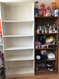 Moveout Sale - Brown 4-Shelf (Count 1) and White 5-Shelf (Count 2) Units Niskayuna