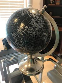 Black and silver decorative desk globe Centreville