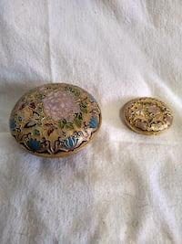 Chinese Cloisonne Trinket boxes  Burlington