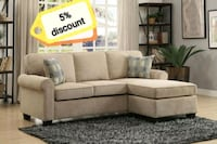 Clumber Sand Beige Reversible Sofa Chaise | 9967   Houston, 77036