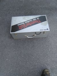 """Heavy Metal Box with tools, hardware, ETC. 22"""" x 12"""" x 8"""". Pick Up in North Hagerstown, MD. 25.00 OBO Orchard Hills"""