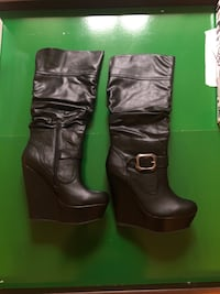 Woman's 9 - leather knee-high boots 24 km
