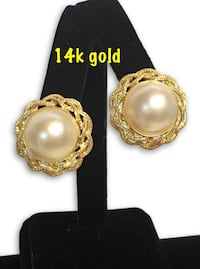 14k big Pearl Earrings  Alexandria, 22304
