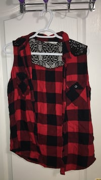 red and black plaid tank top size M  Richmond Hill, L4S 3E5