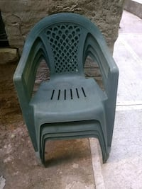 Four Green outdoor chairs  New York, 10032