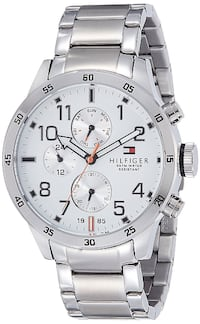Tommy Hilfiger Men's 1791140 Cool Sport Stainless Steel Watch with Triple-Link Bracelet