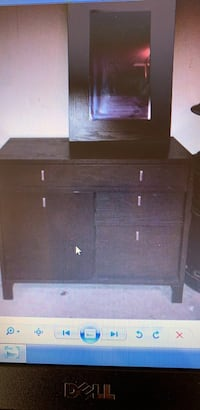 black wooden cabinet with mirror  Upper Saddle River, 07458