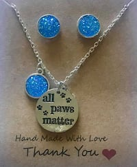All paws matter with Druzy Earrings  104 mi
