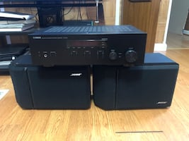 BOSE speakers and Yamaha Bluetooth amplifier