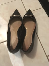 Aldo black leather flats size 8.5 Oakville, L6H 1Y4