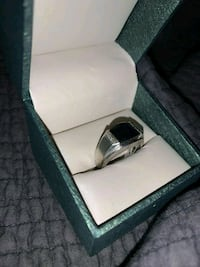 Silver sapphire gem ring. $120 or best offer. London, N6E 2B7