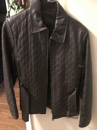 Brown Leather Jacket with quilted details Charlotte, 28211