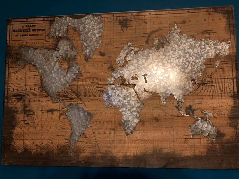 Used World Map From Hobby Lobby For Sale In Hanover Letgo