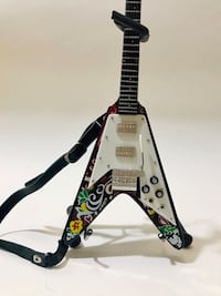 Miniature Guitar Replica Jimi Hendrix Psychedelic Gibson Flying V Gaithersburg, 20878