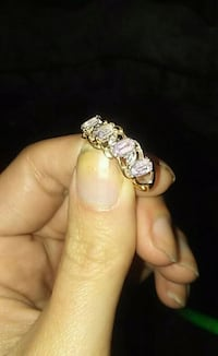 10k gold ring with real diamonds and amethysts  Independence, 64055