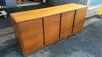 WOODEN OFFICE CREDENZA