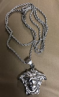 """100% Stainless Steel Versace style 2MM 32"""" Rope Chain pendant Baltimore, 21202"""