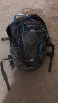 Outdoor backpack with bladder