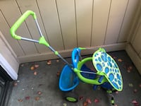 Blue and Green Tricycle