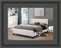White platform bed with mattress and box spring Temple Hills