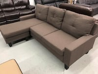 Brand new brown fabric sectional sofa winter sale  547 km