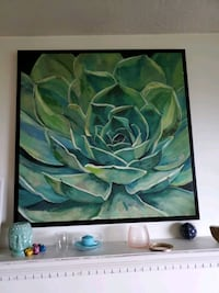 Large plant painting