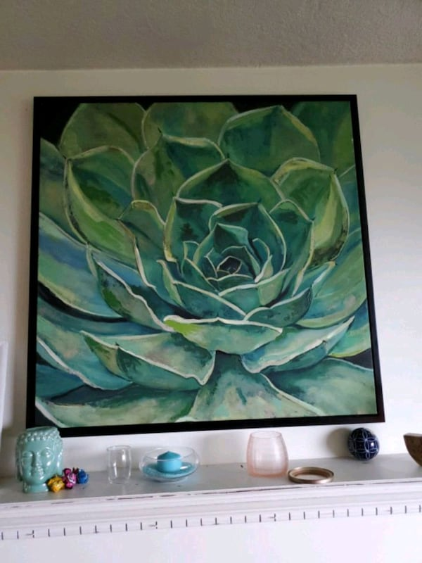 Large plant painting  9d15d51a-f835-451c-b27a-92b4195bf617