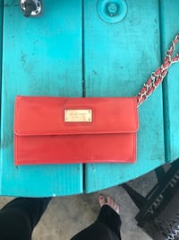 red Nine West leather wristlet Rocky Mount, 27804