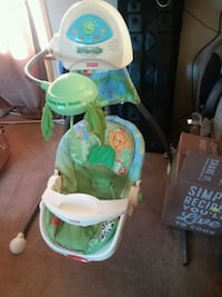 baby's white and green cradle and swing Hebron, 46341