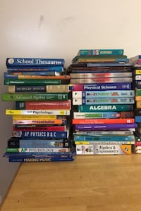 Assorted Textbooks, SAT books, Workbooks