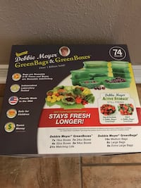 Brand new Debbie Meyer Green bags and Green boxes. 74 pc set. Bossier City