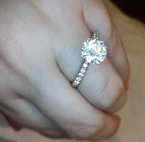 7a58be8afc40ef Used 2 CARAT rose gold diamond solitaire ring for sale in Atlanta - letgo