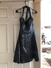 black and white polka-dot halter A-line dress Los Angeles, 90731
