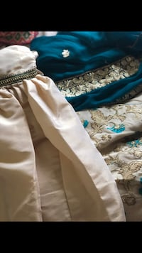 3 piece Pakistani Indian dress shirt dupatta and ghagrra  pants Brand New Great for EID