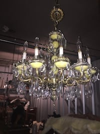 12 lights Alabaster (marble) chandelier with crystals Toronto, M2R 3N1