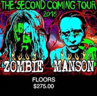 pair of marilyn manson rob zombie tour tickets concert budweiser stage  Toronto, M5E