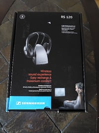 NEW OPEN BOX Sennheiser RS [PHONE NUMBER HIDDEN]  Wireless RF Headphones