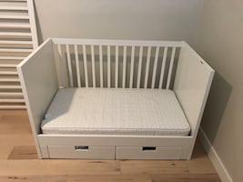 IKEA Stuva crib/toddler bed with drawers