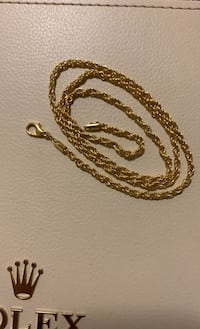 Gold plated rope chain Coquitlam, V3E 2W6