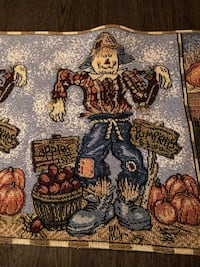 """Fall Scarecrow table runner 74"""" long and 13"""" wide Mooresville, 28117"""